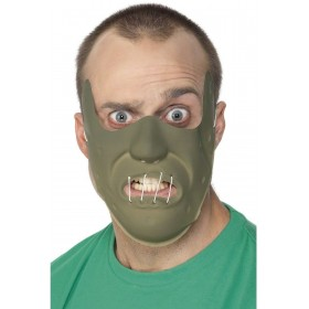 Adult Pvc Restraint Horror Mask - Fancy Dress Mens (Film)
