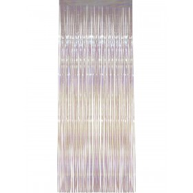 Shimmer Curtain, White, Iridescent, 91cm x 244cm Fancy Dress Accessory