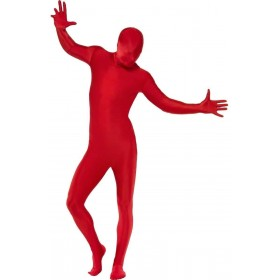 Second Skin Suit Fancy Dress Costume Red