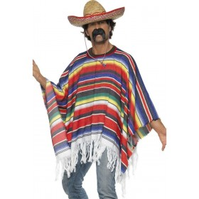 Poncho - Fancy Dress Mens (Cowboys/Native Americans)