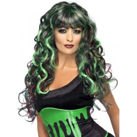 Blood Drip Monster Wig (Halloween Wigs) - Black