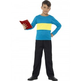 Jumper, Blue with Yellow Stripe Fancy Dress Costume