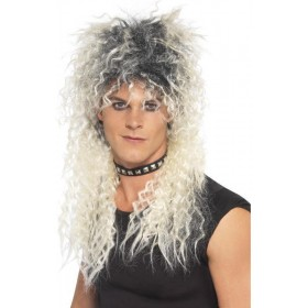 Hard Rocker Wig (1980S Fancy Dress Wigs) - Blond