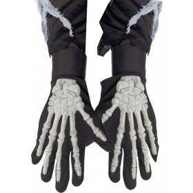 Skeleton Gloves - Fancy Dress (Halloween)