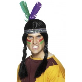 Indian Feathered Headband - Fancy Dress (Cowboys/Indians)