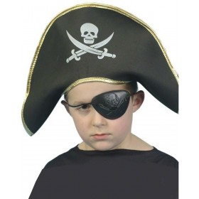 Pirate Captain Hat - Fancy Dress Boys (Pirates)