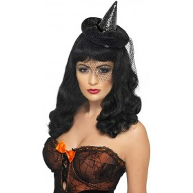 Mini Witches Hat Fancy Dress Ladies (Halloween)