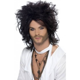 Sex God Wig (Fancy Dress Wigs) - Black