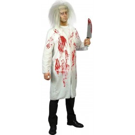 Doctor'S Coat With Blood Fancy Dress Costume Mens (Doctors/Nurses)