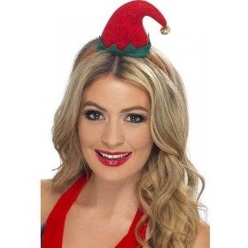 Mini Elf Hat On Headband (Christmas Hats)