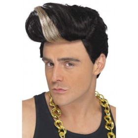 1990'S Rap Star Wig (Music Fancy Dress Wigs) - Black