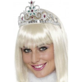 Flower Jewelled Tiara - Fancy Dress Ladies