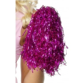 Pom Poms Metallic Pink - Fancy Dress Ladies