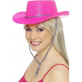 Cowboy Glitter Hat - Fancy Dress Mens (Cowboys/Indians)