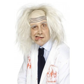 Madman Wig - Fancy Dress Mens - White