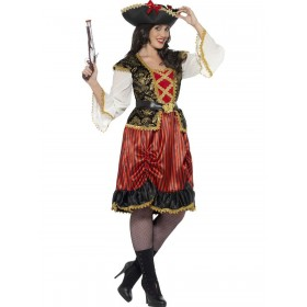 Curves Pirate Lady Costume Fancy Dress