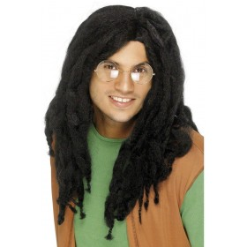 Black Jamaican Wig - Fancy Dress (Hawaiian)
