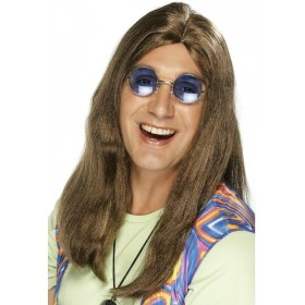 Neil Hippy Wig - Fancy Dress Mens (1960S) - Brown