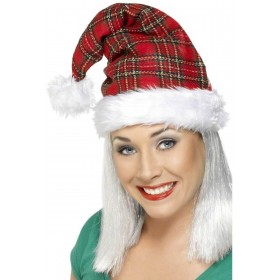 Tartan Santa Hat - Fancy Dress (Christmas)