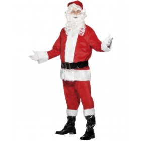 Santa , Velour Fancy Dress Costume