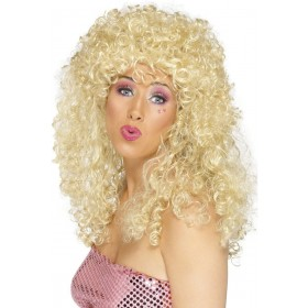 Boogie Babe Wig - Fancy Dress Ladies (1980S) - Blonde