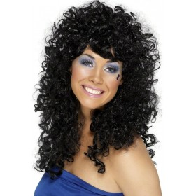 Boogie Babe Wig - Fancy Dress Ladies (1980S) - Black