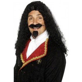 Musketeer Wig - Fancy Dress Mens (Musketeers) - Black