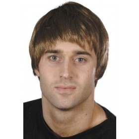 Guy Wig - Fancy Dress Mens - Brown