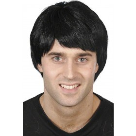 Guy Wig - Fancy Dress Mens - Black