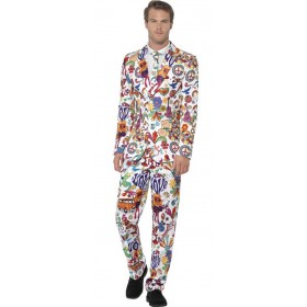 Mens 1960's Groovy Stand Out Suit Fancy Dress Costume