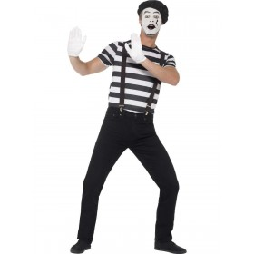 Gentleman Mime Artist Costume Fancy Dress