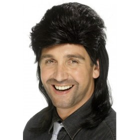 Jason Wig - Fancy Dress Mens (1980S) - Black