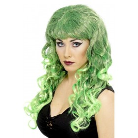 Siren Wig - Fancy Dress Ladies - Green