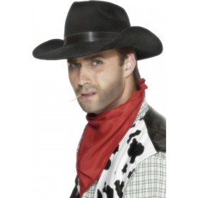 Indestructible Cowboy Hat - Fancy Dress Mens (Cowboys/Indians)