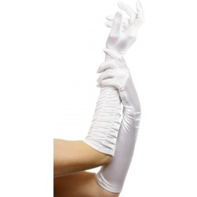 Temptress Gloves White - Fancy Dress Ladies