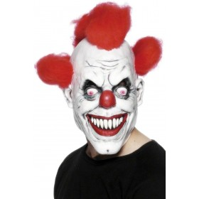 Clown 3/4 Mask - Fancy Dress Mens (Clowns)