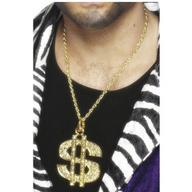 Dollar Sign Medallion - Fancy Dress Mens (Pimp)