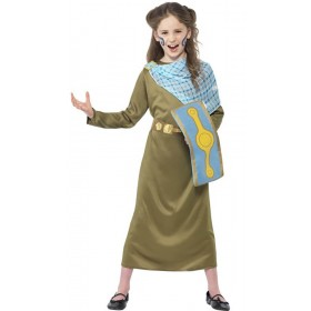Girls Green Horrible Histories Boudica Fancy Dress Costume