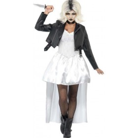 Ladies White Bride Of Chucky  (Fancy Dress Costume)