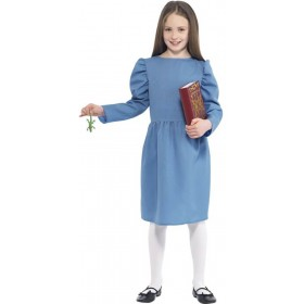 Girls Blue Roald Dahl Matilda Fancy Dress Costume