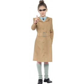 Girls Beige Roald Dahl Miss Trunchbull Fancy Dress Costume