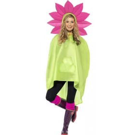 Adult Unisex Flower Party/Festival Poncho Fancy Dress Costume