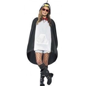 Adult Unisex Penguin Party/Festival Poncho Fancy Dress Costume