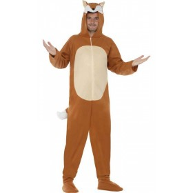 Adult All In One Brown Fox Party/Stag/Festival Fancy Dress Costume
