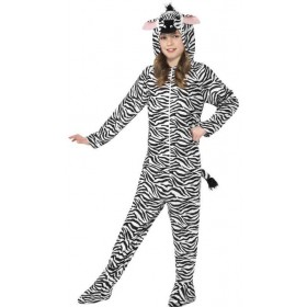 Childs All In One Zebra Fancy Dress Costume