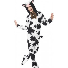 Childs Black & White Cow Onesie Fancy Dress Costume