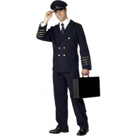 Pilot Fancy Dress Costume Mens (Pilot/Air)