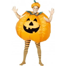 Pumpkin Fancy Dress Costume Mens (Halloween)
