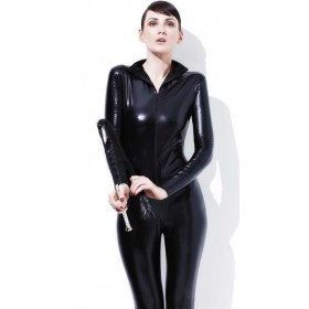 Ladies Black Fever Miss Whiplash Fancy Dress Costume