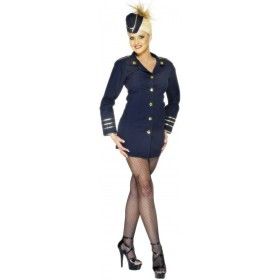 Flight Attendant Fancy Dress Costume Ladies (Pilot/Air)